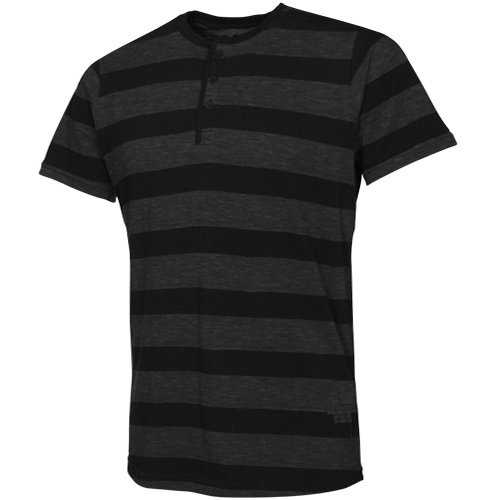 Lost Overkill Henley T-Shirt - Charcoal (Small)