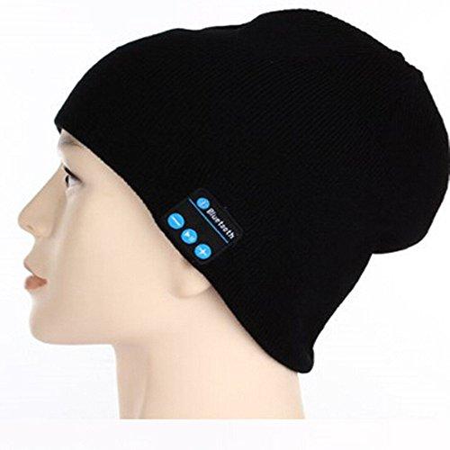 Haosen Cappello Musica Bluetooth cappello morbido caldo con Auricolare stereo per cuffia - Ascolta il telefono ascoltare musica cappelli Bluetooth per lo sport esterno