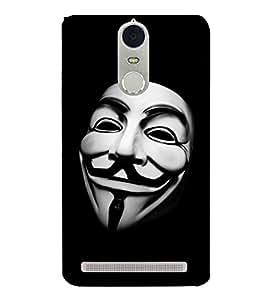 Face Mask Design 3D Hard Polycarbonate Designer Back Case Cover for Lenovo K5 Note :: Lenovo Vibe K5 Note Pro