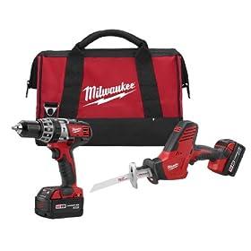 Milwaukee 2695-22 M18 18-Volt 2-Tool Cordless Combo Kit