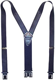 Perry Suspenders Mens Elastic Hook End Jacquard Dress Suspenders (Tall Available, Regular, Burgandy