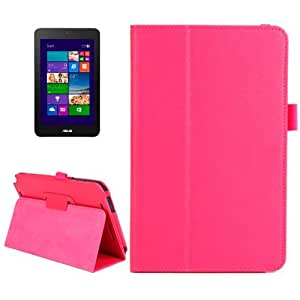 Litchi Texture Leather Case with Holder for ASUS Vivo Tab Note 8 / M80TA (Magenta)