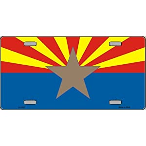 America sports Arizona Big Star Flag license plate auto vehicle car fronts