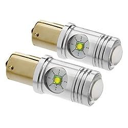 See 1156/BA15S 25W Cree 1400LM 5500-6500K Cool White Light LED Bulb for Car (12V-24V,2pcs) Details