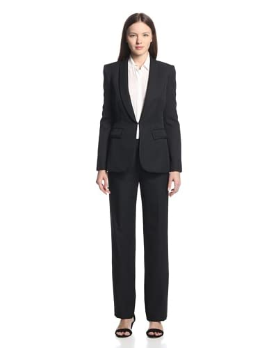 Tahari by ASL Women's Pant Suit  [Black/White]