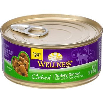 Wellness Cuts Cubed Turkey Can Cat Food 24 Pack