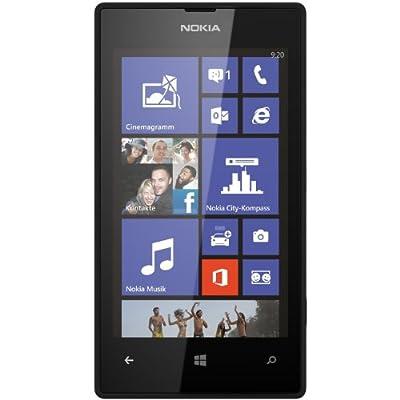 Nokia Lumia 520 Smartphone (10,1 cm (4,0 Zoll) WVGA ClearBlack LCD Touchscreen, 5,0 Megapixel Auto Fokus Kamera, 1,0 GHz Dual-Core-Prozessor, Windows Phone 8) schwarz
