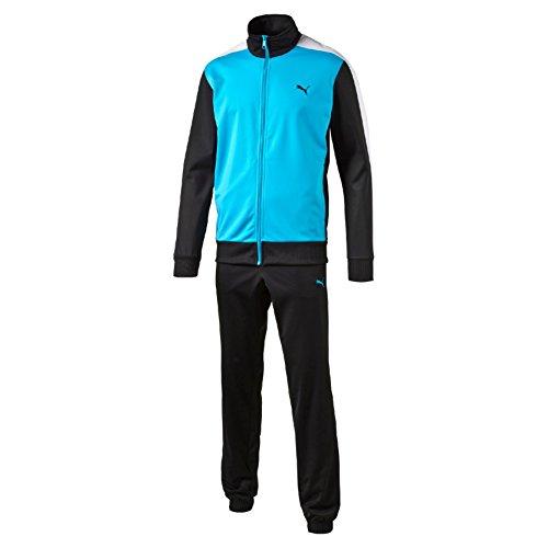 Puma Ess Poly Suit Cl Tuta Sportiva, Azzurro/Nero/Bianco, L