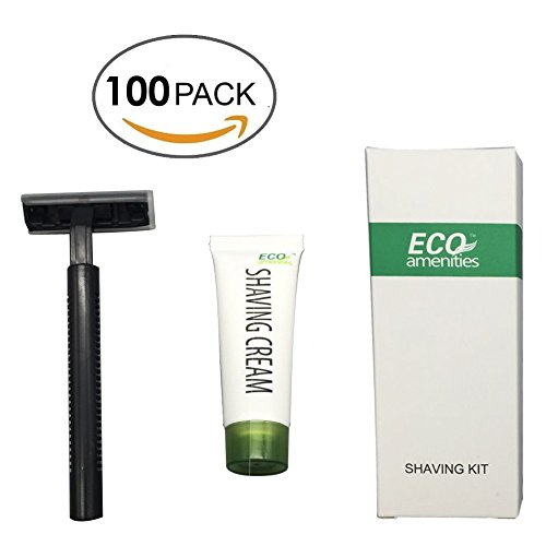 ECO-Amenities-Smooth-Shave-Disposable-Razor-with-Cream-Individually-Wrapped-Paper-Box-100-Set-per-Case
