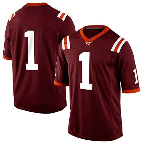 NCAA Virginia Tech Hokies #1 Game College Football Jersey Maroon L (Miami College Football Jersey compare prices)