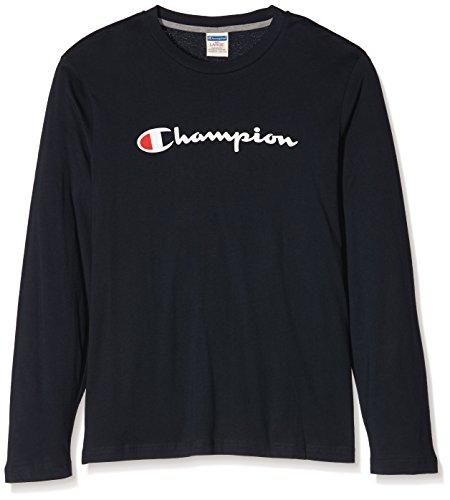 Champion Uomo,  T-Shirt m/l Auth. Cott.Jerse, blu,   M,   209832_F16