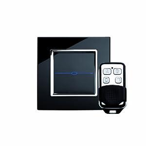 retrotouch rts2020 designer lichtschalter 1 fach touch doppelschaltung zwischenschaltung mit. Black Bedroom Furniture Sets. Home Design Ideas