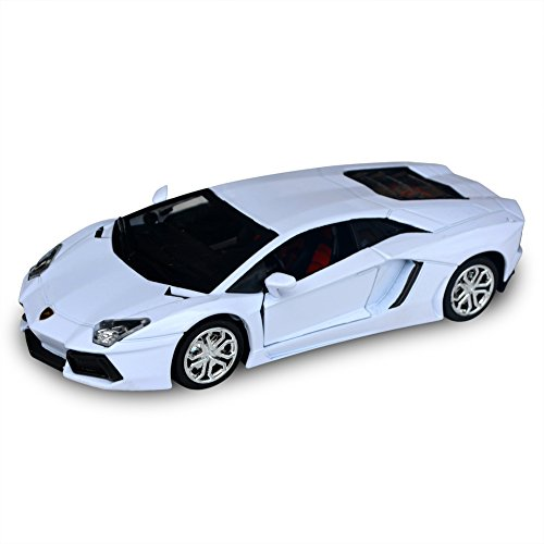 Tianmei Lamborghini Aventador Supercar Styling 1:36 Alloy Diecast Car Models Collection kids Toys Decoration Ornaments Light & Sound (White Color) (Lamborghini Model Car compare prices)