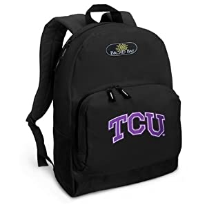 TCU Logo Backpack Black Texas Christian University for Travel or School Bags - BEST QUALITY Unique Gifts For Boys, Girls, Adults, College Students, Men or Ladies