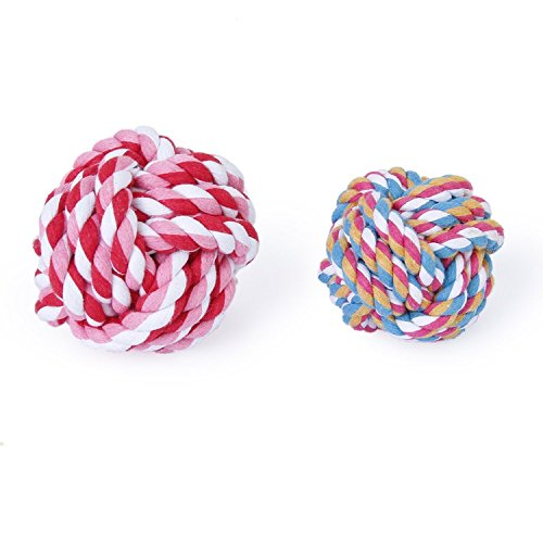 7cm-pet-dog-braided-cotton-rope-knot-ball-chew-toys-teeth-cleaning-ball-random-color