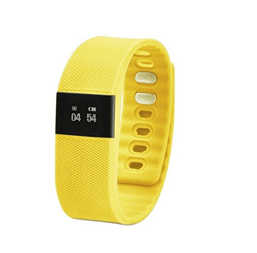 X-Strong® Bluetooth 4.0 Smart Watch Fitness Activity Tracker Smartband Wristband TW64 Intelligent Bracelet Pedometer Anti-lost for IOS Android (Yellow)