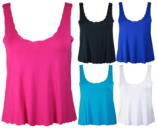 New Ladies Plus Size Sleeveless Crop Top Womens