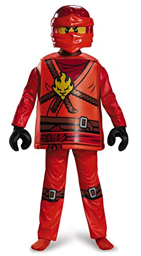 Disguise Kai Deluxe Ninjago LEGO Costume, Medium/7-8