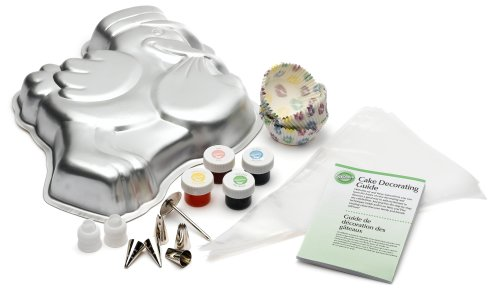 Wilton Baby-Shower Party Set with Cake Pan, Decorating Supplies, and Baking Cups