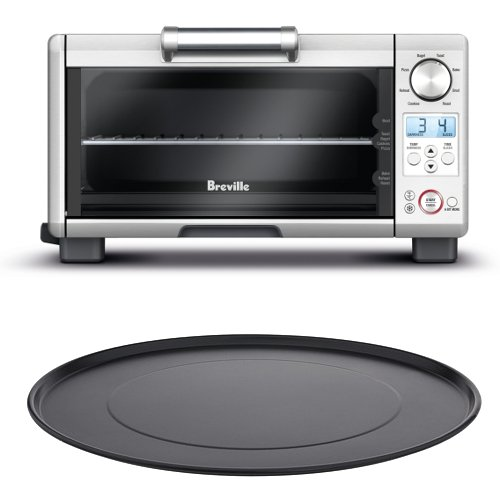 Breville BOV450XL Mini Smart Oven with 11 Inch Aluminum Nonstick Pizza Pan (Breville Toaster Oven Compact compare prices)