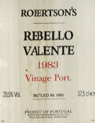 1983 Rebello Valente Vintage Port 375 Ml