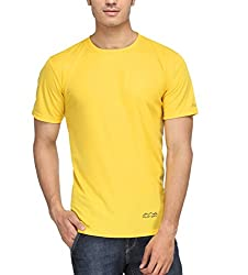 AWG Men's Jersey Round Neck Dryfit T-shirt - Yellow - AWGDFT-YE-XL