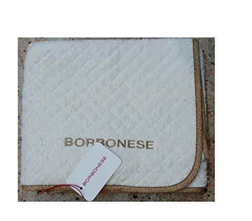 BORBONESE TAPPETO BAGNO OP COLOUR MISURA cm. 60x110 PANNA