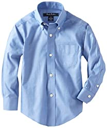 Brooks Brothers Little Boys' Non Iron French BD BC, Blue, 6