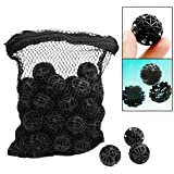 50 Black Aquarium Fish Tank Filter Bio-Balls Filtration