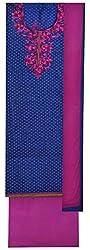 SG Women's Cotton Unstitched Dress Material (Blue)