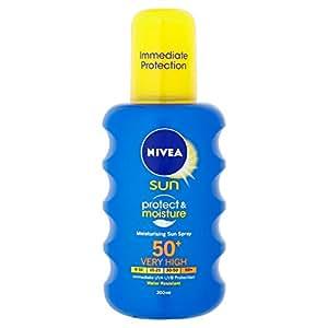 NIVEA Sun Protect and Moisture Moisturising Sun Spray SPF 50 - 200 ml