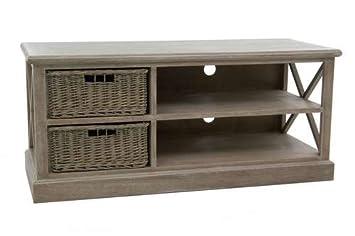 Mobile TV 2Cestini legno grigio