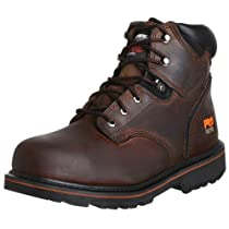 "Hot Sale Timberland PRO Men's Pitboss 6"" Steel-Toe Boot,Brown/Brown,11 M"