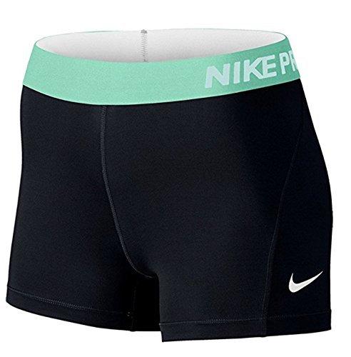 "Nike Womens Pro 3"" Shorts - Black/Green - XS"