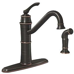 Kitchen Faucet Sngl Spray Brnz Touch Kitchen Sink