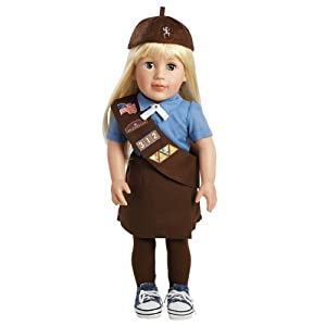 "Adora Play Doll Chloe - Girl Scout Brownie 18"" Doll & Costume"