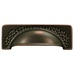 Hickory Hardware P2174-OBH 96mm Craftsman Cup Pull, Oil-Rubbed Bronze Hightlighted