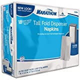 Marathon 1-ply Tall Fold Dispenser Napkins - 4,500 Ct.