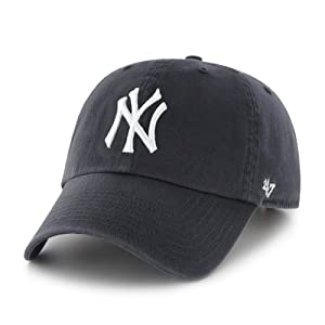 MLB New York Yankees Men's '47 Brand Home Clean Up Cap, Navy, One-Size