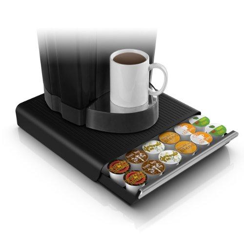 Mind Reader 'Hero' 36 Capacity Single Serve Coffee Pod Storage Drawer, Black (Verismo Pod Storage compare prices)