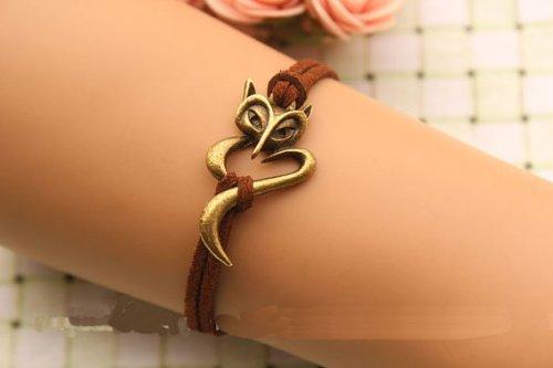 fox-braceletretro-bronze-braceletbrown-rope-chain-braceletso-cute-and-lovelybest-gift-for-your-lover