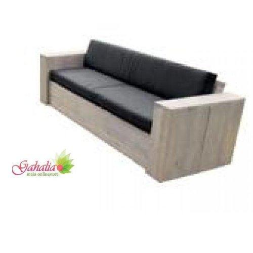 bauholz m bel lounge bank gartenbank gahalia 240x85x70cm ohne kissen g nstig kaufen. Black Bedroom Furniture Sets. Home Design Ideas