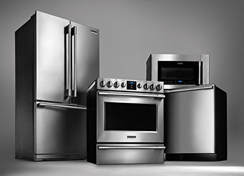 Frigidaire Professional Appliance Package with French Door Refrigerator, Convection Range, Deluxe Dishwasher...
