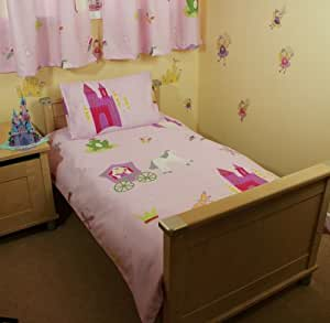Fairytale Princess Cot Bed/Junior Duvet Cover & Pillowcase - UK Made