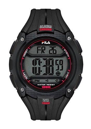 Fila-Bracciale unisex orologio digitale al quarzo 38-094-001FILACTIVE Nero plastica