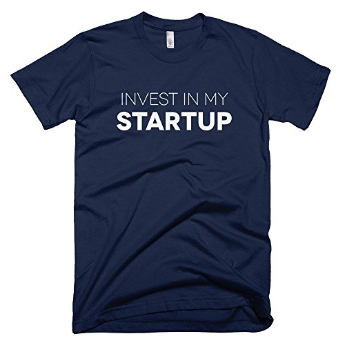 Startup-Drugz-Invest-In-My-Startup-Male-T-Shirts-Navy