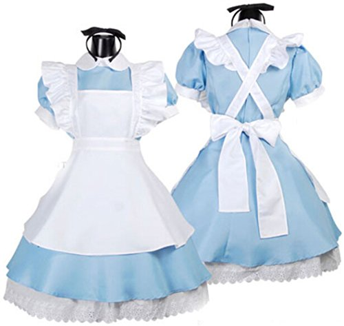 Japanese Anime Cosplay Costume Alice's Wonderland Lolita Maid Costume