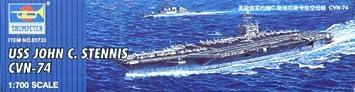 Maquette bateau: Porte-avions USS CVN-74 John C. Stenis 2066