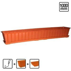 Terracotta agro 100 cm window box tray brackets sizes for 100 cm window box
