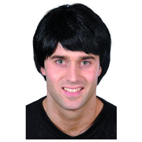 ADULT MENS BLACK GUY WIG MEN'S CHARACTER WIGS SMIFFYS FANCY DRESS COSTUME